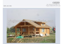 prefabricated luxury wooden villa LOG-046