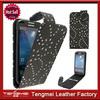Minion Case For Samsung Galaxy S4 Mini i9190,Black Bling Diamond Flip Leather Case Cover For Samsung Galaxy S4 Mini
