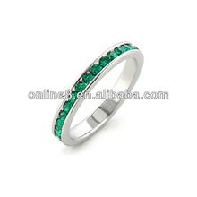 Exquisite Full Diamond Stainless Steel Ring celebrity rings