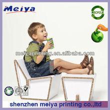 Shenzhen Meiya portátil de dibujos animados de mesa y silla de cartón corrugado juegos de muebles para el niño que juegan los juguetes