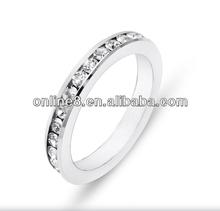 Coppia anello in acciaio inox, coppia anello in acciaio inox carati taglio princess anelli di fidanzamento