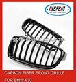 De fibra de carbono de la parrilla delantera del coche rejillas para bmw f30 2012 - 2014