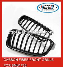carbon fiber front grille custom car grilles for bmw f30 2012-2014