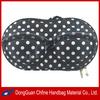 CFBCD3-00091 Polka dots EVA hard shell storage or traveling bra shaped bag