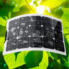Custom made 40w black contact flexible solar module with connection box front side