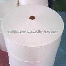 Short fiber non woven polyester carrier for asphalt felt