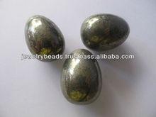 Pyrite gold yellow gemstone and semi precious stone crafts eggs-pyrite stone egg 25-35 mm-stone egg craft