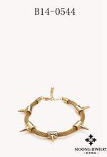 Custom gold chain bracelet,Arrow Bracelet,Charm Bracelet Spiked Snake Chain Bracelet