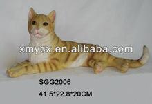 Lift size garden animal statue resin cat