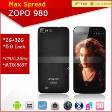 "Instock!! ZOPO 980 5.0"" FHD screen Android 4.2 mtk6589 quad core 1.5GHz Dual camare Dual sim ZP 980 Smartphone"