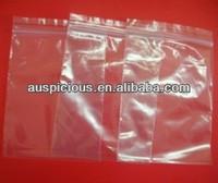 Plastic zipper sache bags