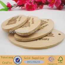 fashion design wooden hangtag with logos