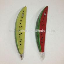 watermelon shaped plastic magentic ball pen fruit shaped pen novelty pen for kids