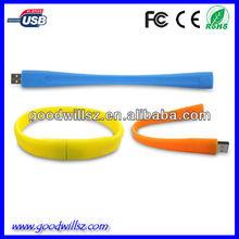 Custom wristband usb stick,all colors pvc usb flash drive 2.0