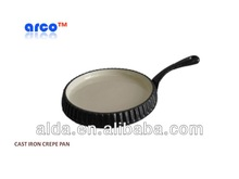 CAST IRON CREPE PAN WITH CERAMIC COATING