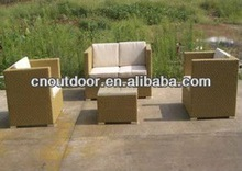 4 Pcs outdoor patio furniture polyrattan sofa sets