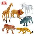 Pvc animal do zoológico, personalizado plástico zoo animal brinquedo do fabricante icti aprovado