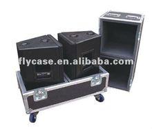 Travel aluminum flight carry case,speaker box for aluminum flight case with wheels