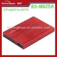 "Aluminum case SATA 2.5"" usb 3.0 SSD & HDD hard drive enclosure 2 5"