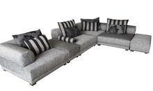 Yuqi modern design fabric material for sofa set,light grey and nylon cover sofa set furniture 8051-1