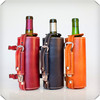 portable wine carrier ,antique leather wine carrier, leather bag