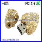 Good quality necklace night owl jewelry usb flash drive,metal usb pen drive 2.0