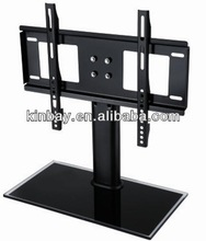 Fashionable fixed glass and new design metal tv stand
