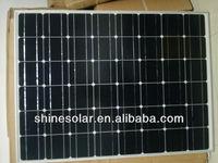 China manufacture supply mono crystalline silicon 120W solar panels