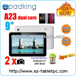New Dual Core Multi-touch Capacitive 9 Inch Ultra Slim Tablet