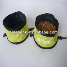 foldable dog travel food bag & bowl