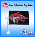 Bandera del coche al por mayor de la ncaa/nhl/nba/nfl/mlb equipo de diseño del logotipo del deporte con la bandera del coche