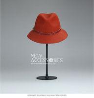 fashion orange cowboy wool hat