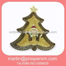 Wholesale ceramic christmas tree shaped plate