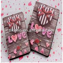 Hot selling Love heart pattern flip case for ipad mini 2
