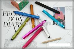 Aluminum alloy handwritten pen/capacitance pen for iphone5 iphone4 4S 3GS ipad2 mini