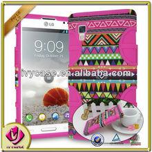 Design Combo hybrid case for LG L9 mobile phone case