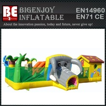 Exciting Elephant Inflatable Fun Island, Inflatable Funland, Inflatable Animal Fun City