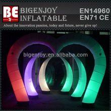 Led Light Air Tusk Wedding Decoration Inflatable Arch