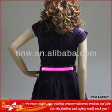 Flashing waist belt with led light