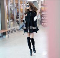 2014 new women's fall and winter clothes Korean Women Ruili wild woolen cape coat jacket wool coat