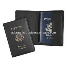 ADAPC - 0032 best promotional passport holder bag / modern promotion passport cover / leather travel passport holder