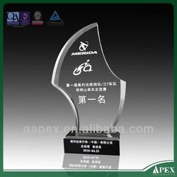 transparence acrylic trophy base with led light