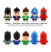 Gift cartoon superman usb flash drive ,memory stick thumb drive pen memory pendrive