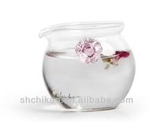 blown glass eco friendly tea kettle