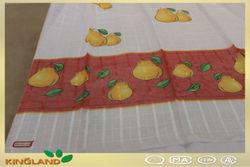 MT 10018 Voile Print Cheap Curtain Tread Curtain Lace Curtain