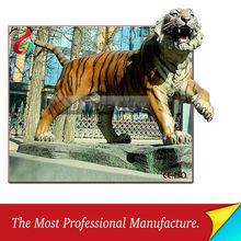 Customized Fiberglass life size tiger animal statues
