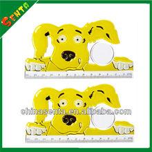 promotional dog shaped plastic ruler 13 cm