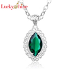 gemstone 925 silver green Citrine gstore crystal pendants Jewelry sets Charms chain necklace LKP0608 wholesale scalar energy