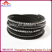 flea market wholesale charcoal and black rhinestone bracelet
