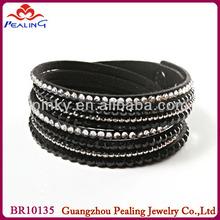 flea market wholesale charcoal and black rhinestone bracelet